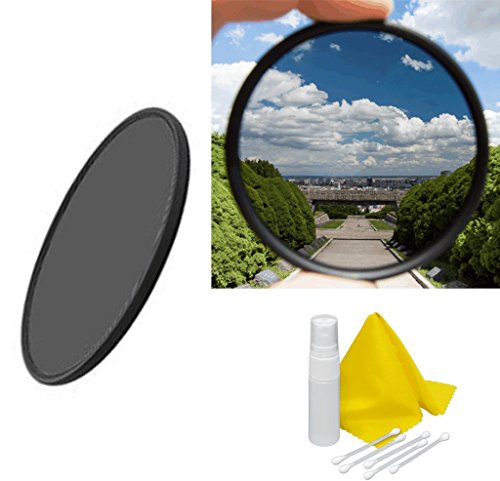 52mm Circular Polarizer Multicoated Glass Filter Microfiber Cleaning Cloth CPL for NIkon Normal AF Nikkor 50mm f//1.4D
