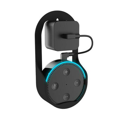 Wall Mount Hanger Stand for Echo Dot 1st & 2nd Speaker Home Holder in Living Bathrooms Studying Room Black - image 4 of 7