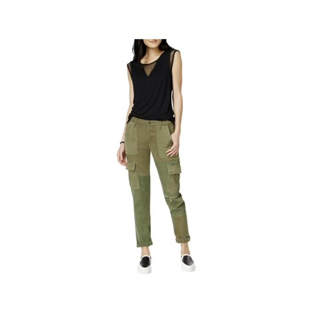 Hudson Womens Riley Utility Distressed Cargo (Hudson Deluxe Wide Leg)