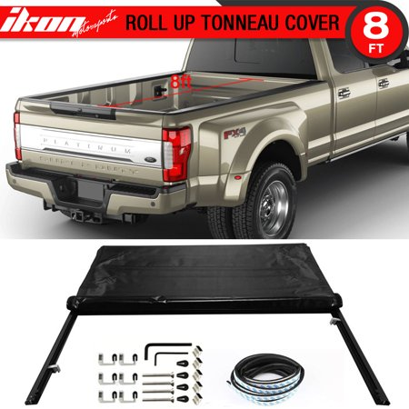 Fits 99-17 Ford F250 F350 F450 SuperDuty 8ft Bed Lock Soft Roll Up Tonneau Cover