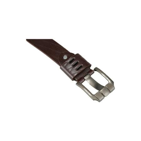 Argile homme Boucle Ardillon métal gaufré cuir ceinture robe PU - image 2 de 6
