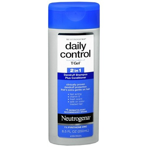 Neutrogena T/Gel Daily Control 2-In-1 Dandruff Shampoo Plus Conditioner, 8.5 Fl. Oz. (Pack of 6)