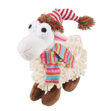 (Holiday Time Squeaky Plush Dog Toy, Sheep)