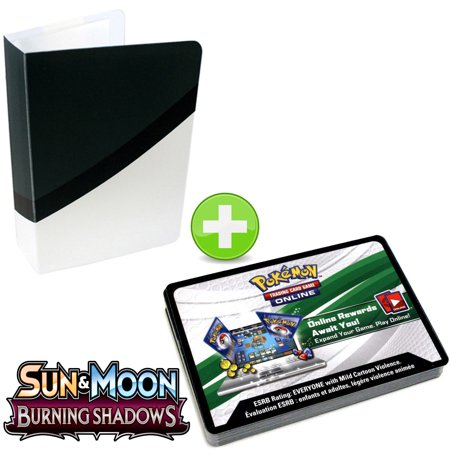 36 Pokemon Booster Code Cards Sun And Moon Burning Shadows With Ultra Ball Topdeck Mini Binder