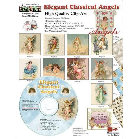 ScrapSMART Elegant Classical Angels Clip-Art CD-ROM, Vintage Images for Scrapbook, Craft, Sewing