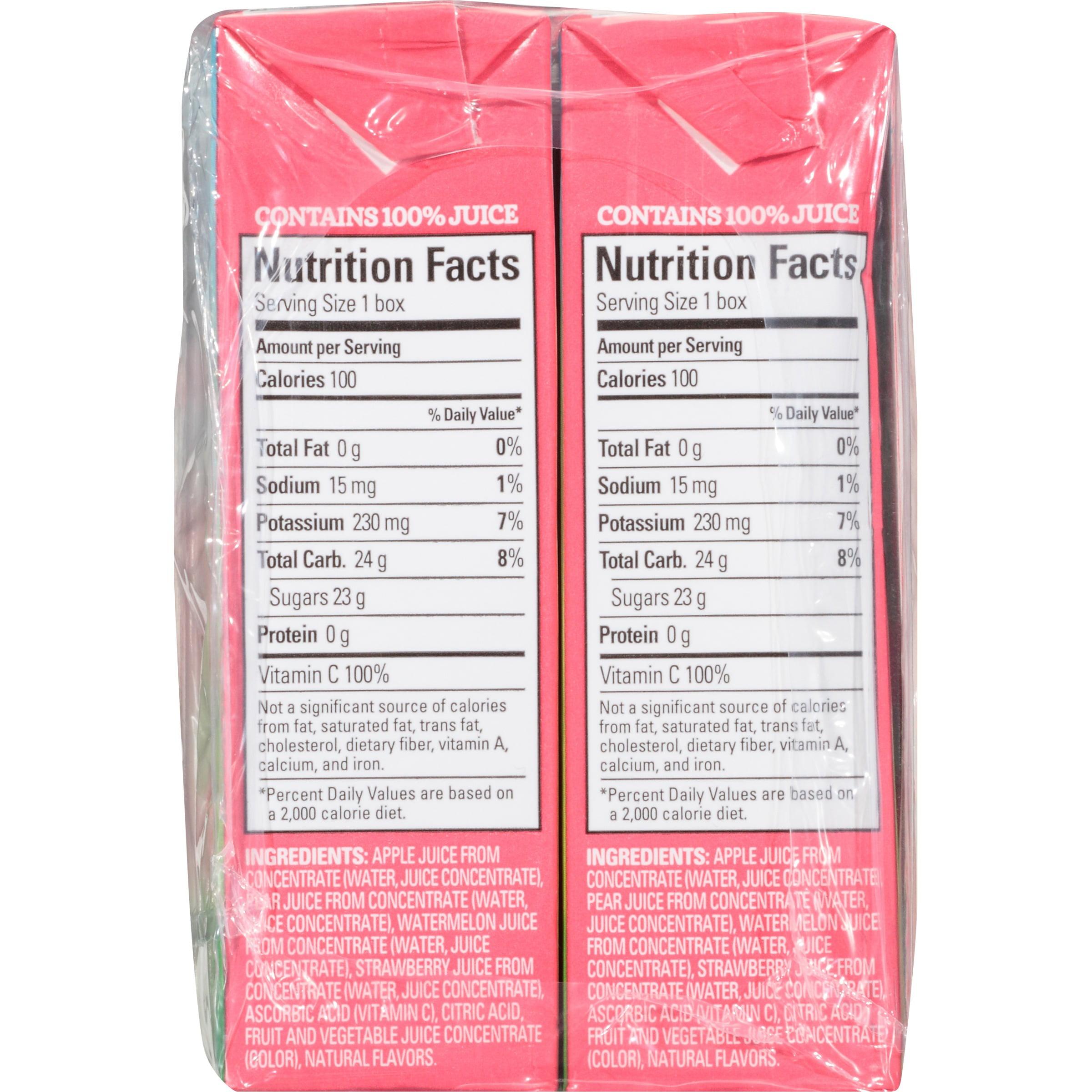Juicy Juice Strawberry Watermelon 100% Juice, 6.75 fl oz, 8 count ...