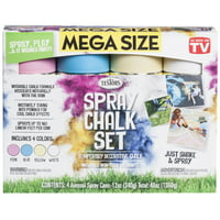 Testors Spray Chalk 4 Color Kit, 12 oz Mega Size