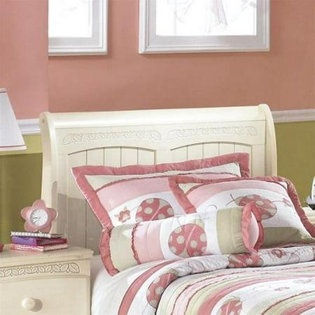 Ashley Furniture Cottage Retreat Cream Finish Casual Style Twin Sleigh Headboard