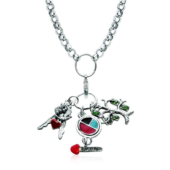 Whimsical Gifts 1100S-NL Teen Girl Charm Necklace In Silver