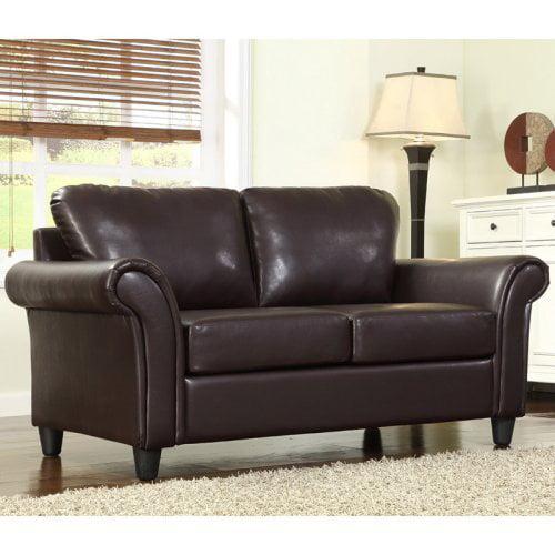 Homelegance Winter Dark Brown Fabric Sofa