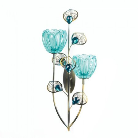 PEACOCK BLOSSOM DUO CUP SCONCE ()