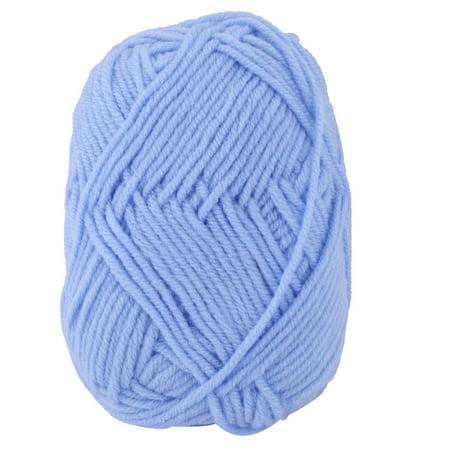 Household Fiber Handmade Crochet Gloves Sweater Knitting Yarn Cord Sky Blue (Sky Blue Knitting Yarn)