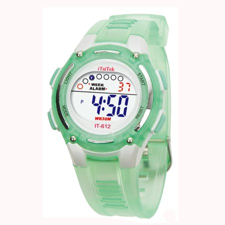 iLH Mallroom Children Boys Girls Swimming Sports Digital Waterproof Wrist Watch GN