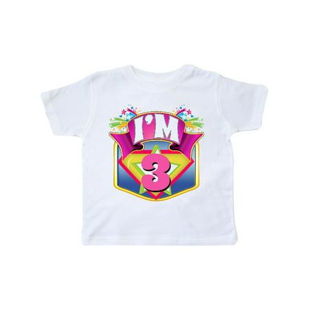 Superhero 3rd Birthday Pink Toddler T-Shirt - Toddler Superhero