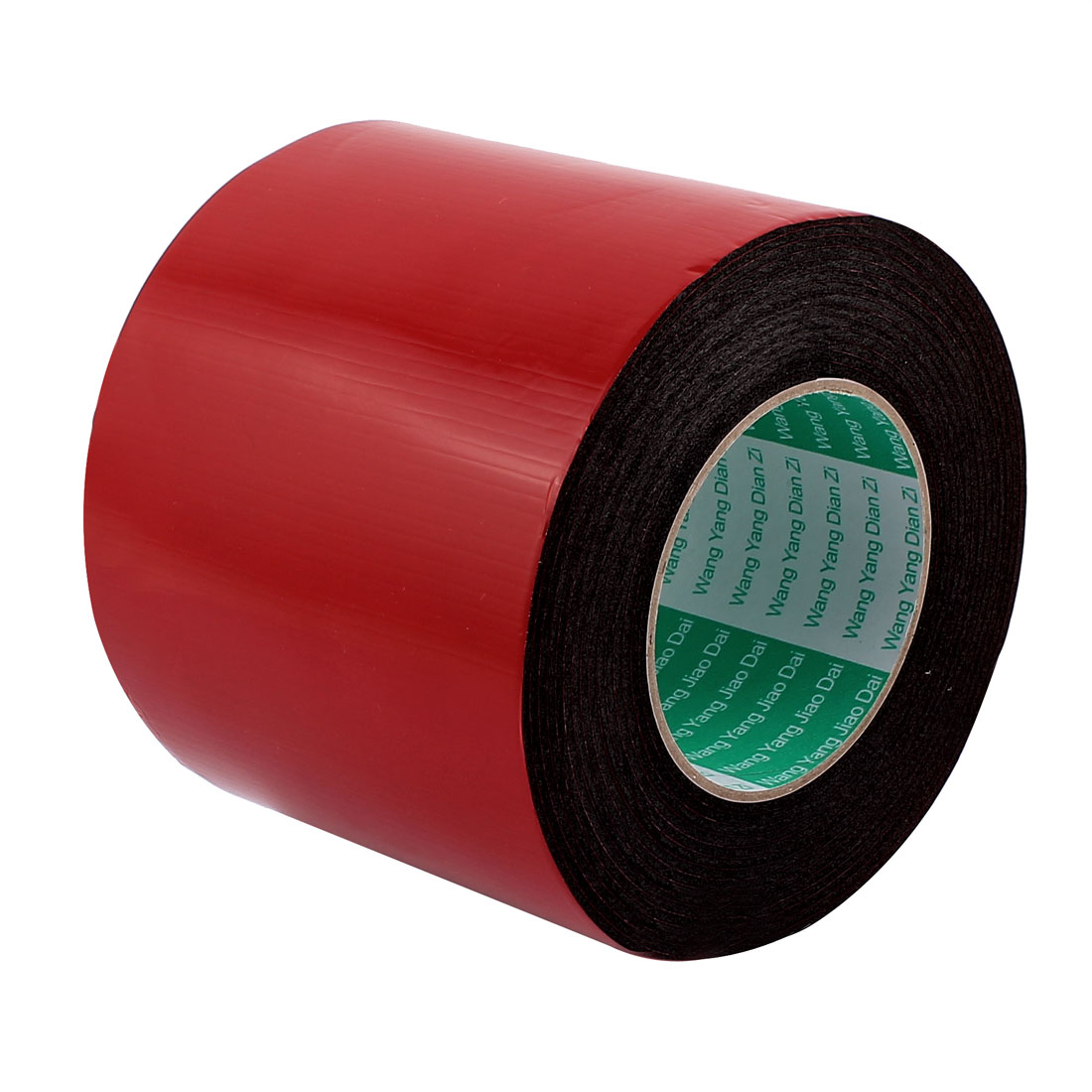 Unique Bargains Black Strong Double Sided Adhesive Tape Sponge Tape 120MM Width 5M Long
