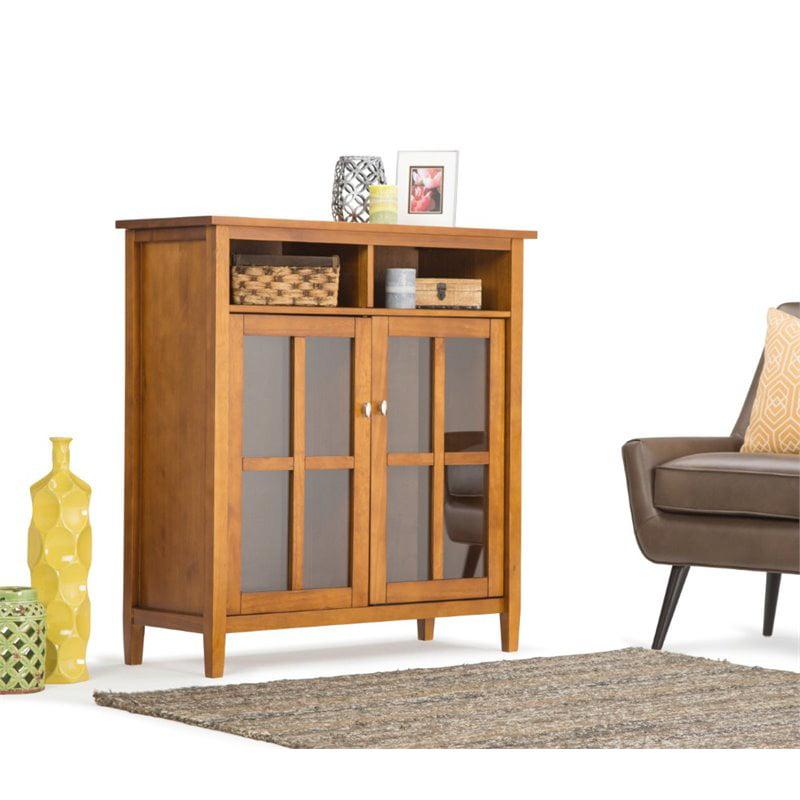 Atlin Designs Storage Media Cabinet in Honey Brown