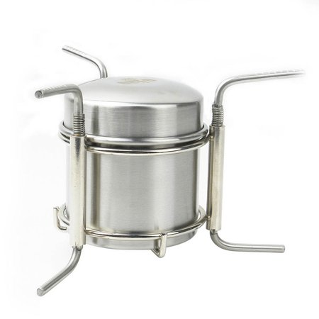 Portable Stainless Steel Ultra-light Spirit Burner Outdoor Camping Alcohol Stove Furnace with Stand