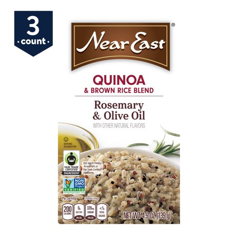 (3 Pack) Near East Quinoa & Brown Rice Blend, Rosemary & Olive Oil, 4.9 oz Box (Near East Couscous)