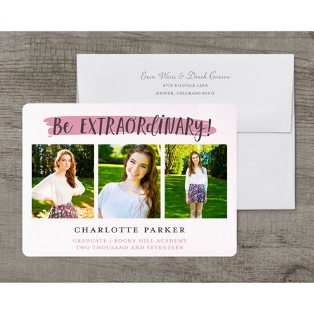 Cheap Graduation Announcements (Going Places Deluxe Graduation)