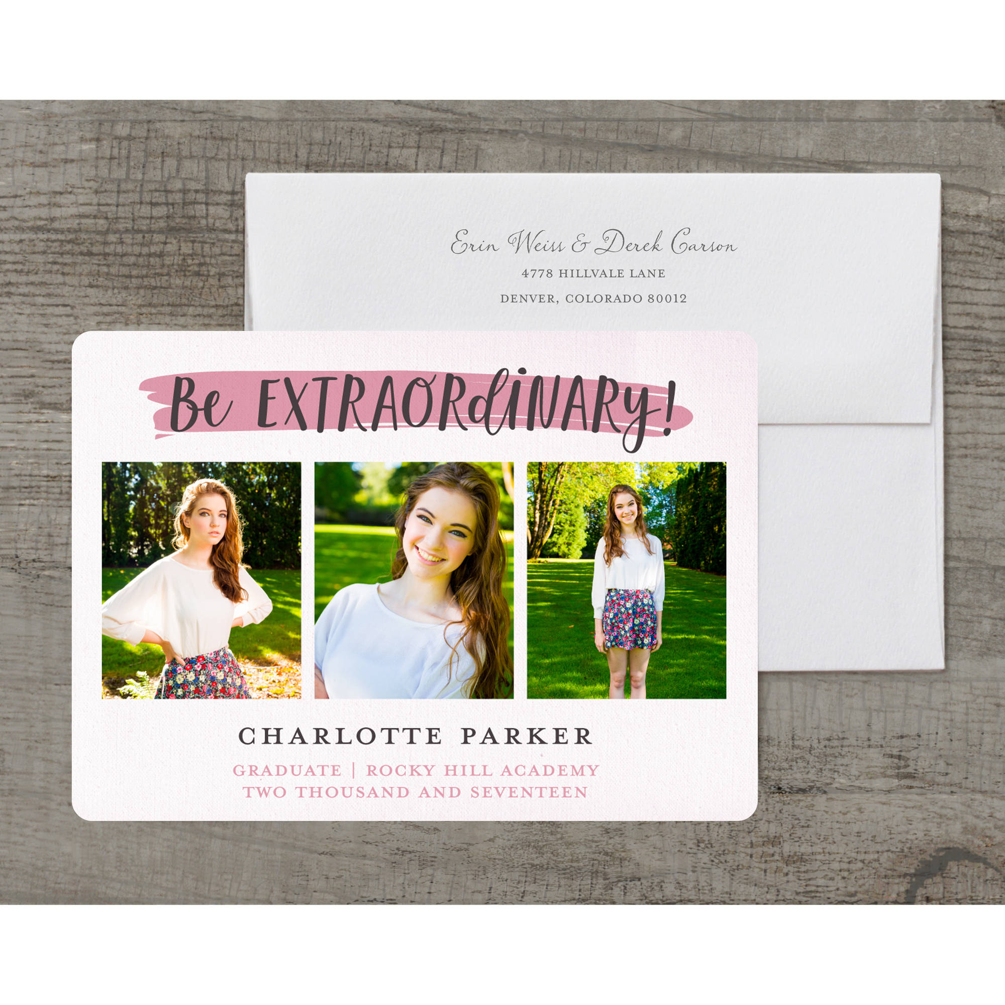 Going Places Deluxe Graduation Announcement
