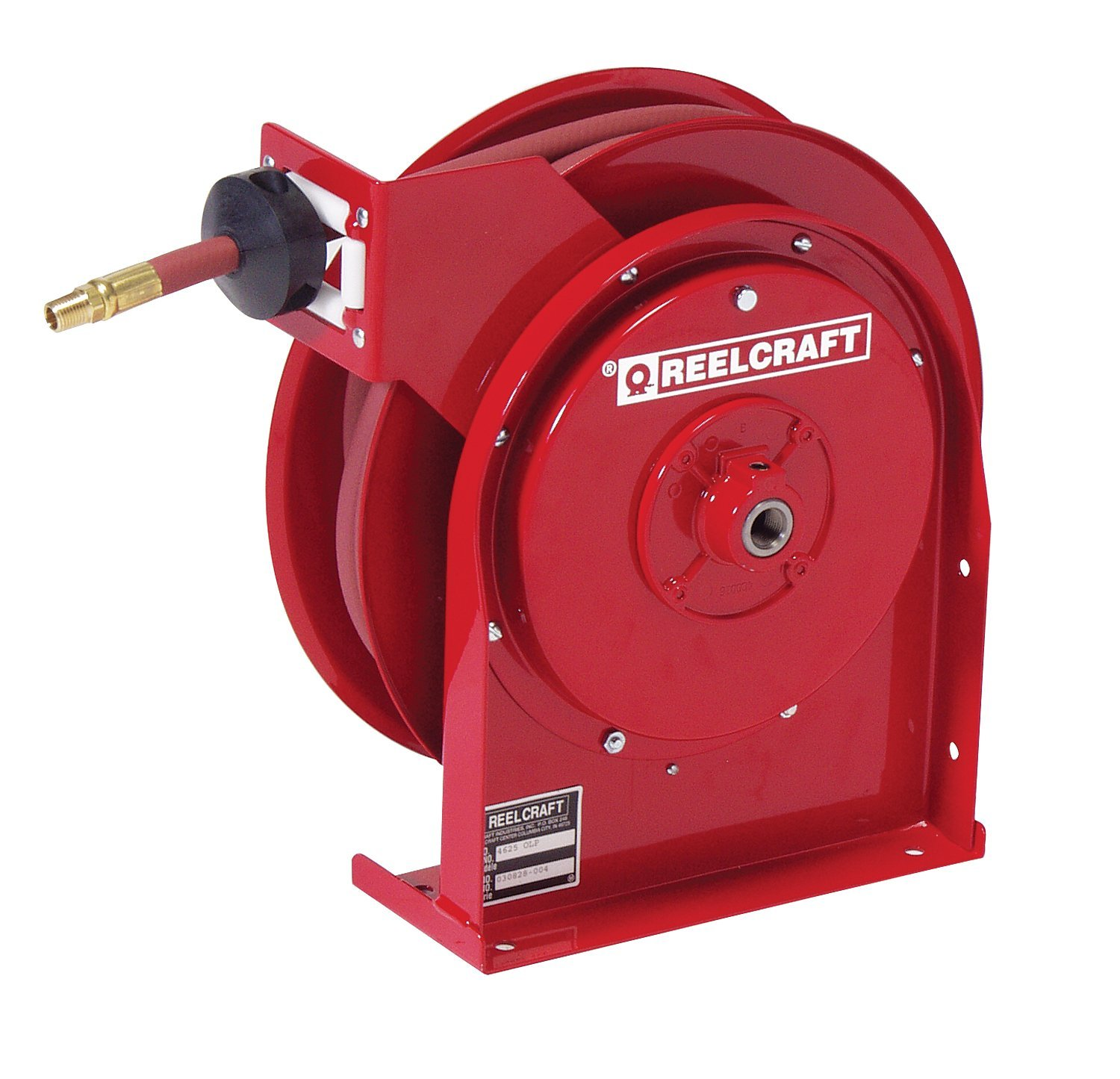 "Reelcraft 5635-OLP Premium Duty Spring Retractable Hose Reel, 3/8"" by 35 ft."