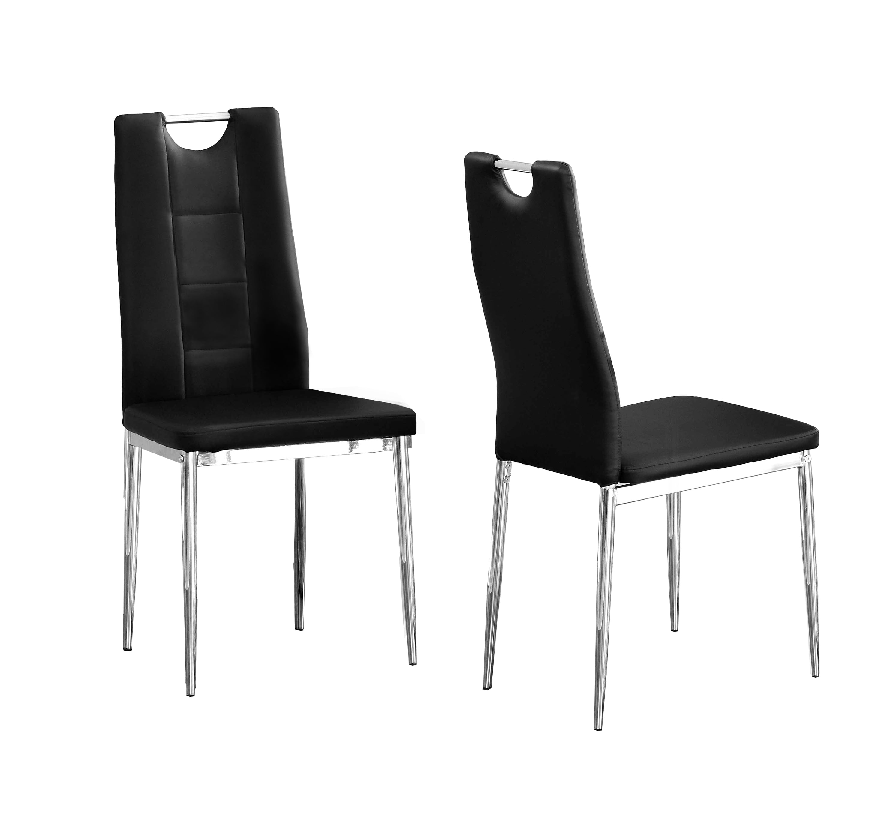 Best Master Furniture Crystal Dining Chairs In Black, Set
