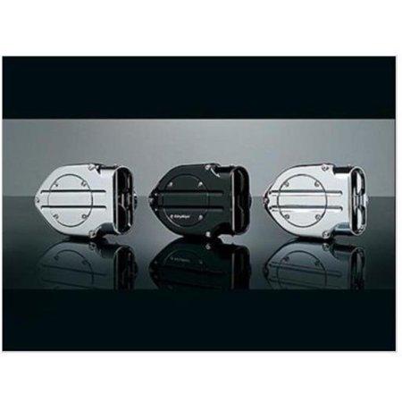 Kuryakyn 9971 Blood Groove Hypercharger - Black Body with Black Blood Groove Trap Door and Black Butterflies ()