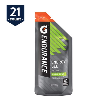 Gatorade Endurance Energy Gel, Apple Pear, 1.3 oz Pouches, 21 Count