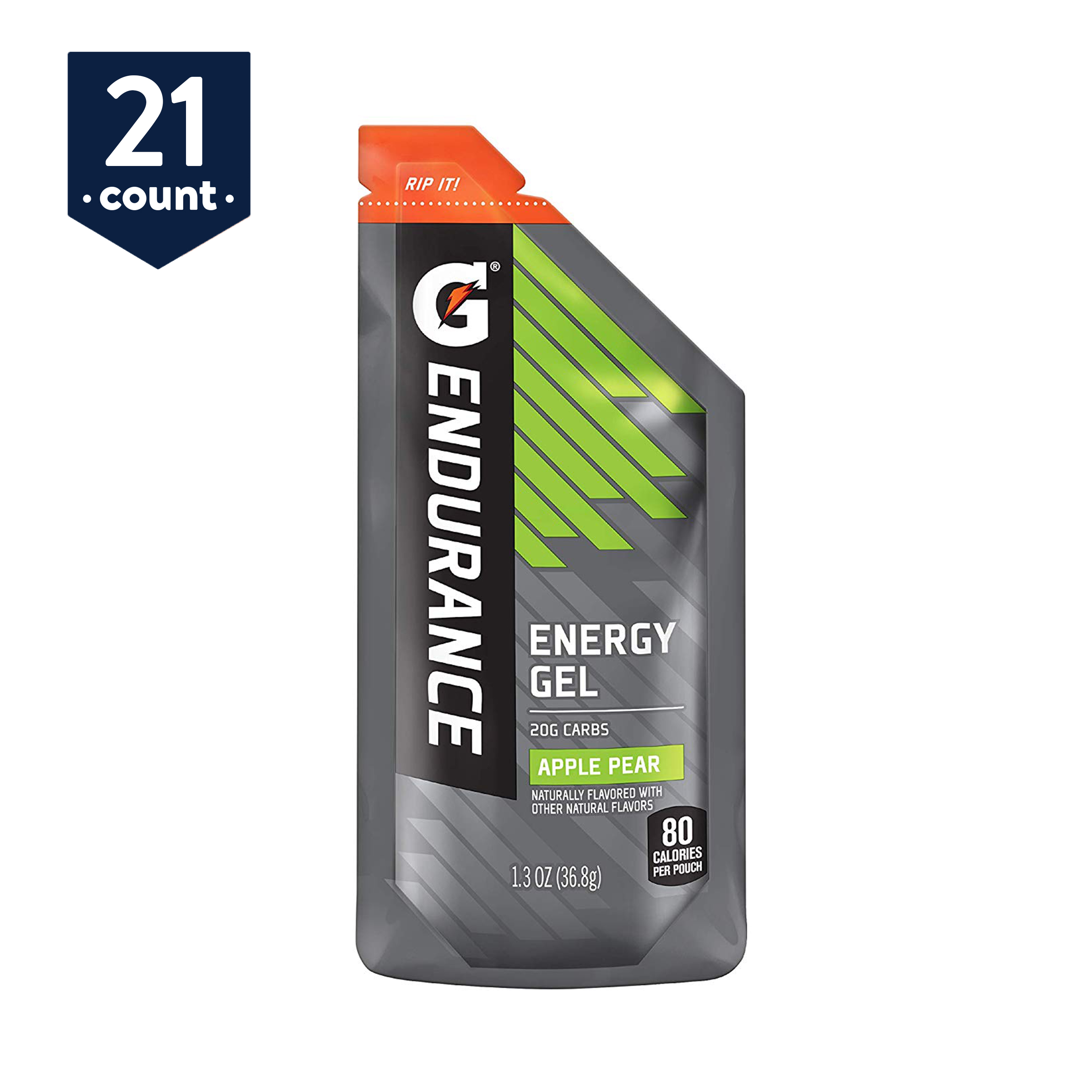 Gatorade Endurance Energy Gel, Apple Pear, 1.3 oz Pouches, 21 Count