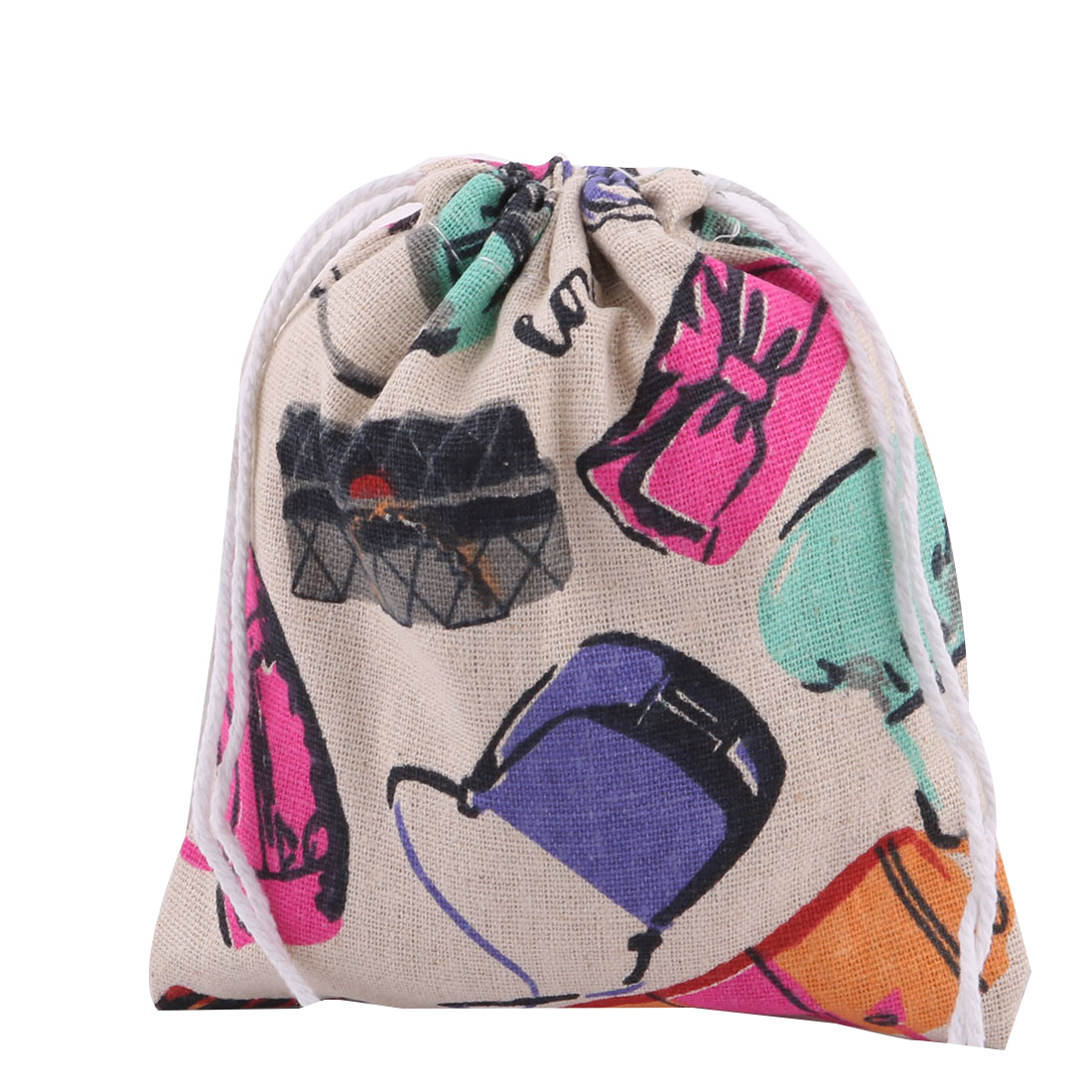 Student Cotton Linen Jewelry Stationery Holder Drawstring Bag Multicolor 2 Pcs - image 3 de 5