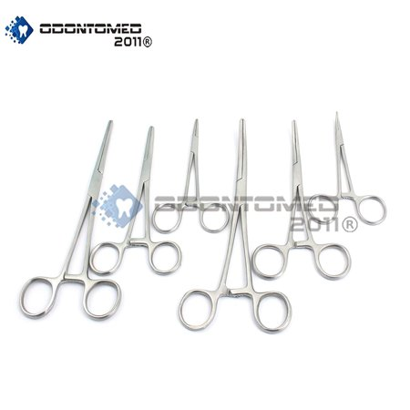 Odontomed2011® Ultimate Hemostat Set, 6 Piece Ideal For Hobby Tools, Electronics, Fishing And Taxidermy Odm ()