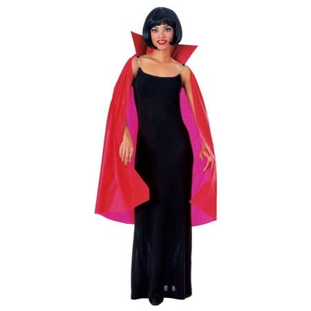 Red Taffeta Cape Vampire Dracula Red Gothic Halloween Costume Accessory (Halloween Vampire Accessories Uk)