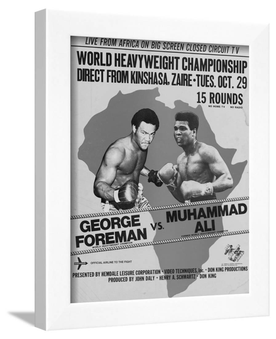 GEORGE FOREMAN 02 vs MUHAMMAD ALI BOXING MUGS AND PHOTO PRINTS