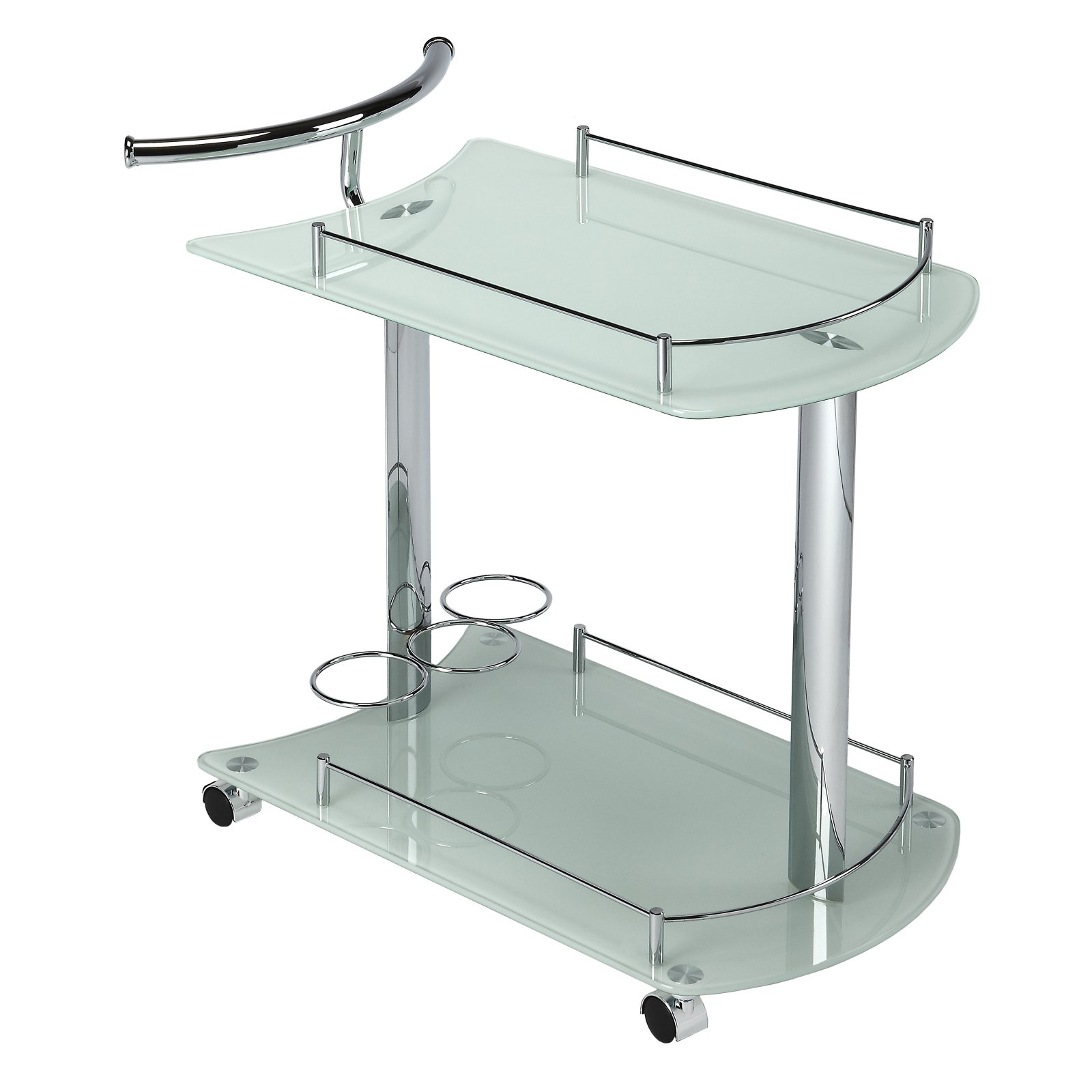 Butler Specialty Penelope White Glass Serving Cart by Butler