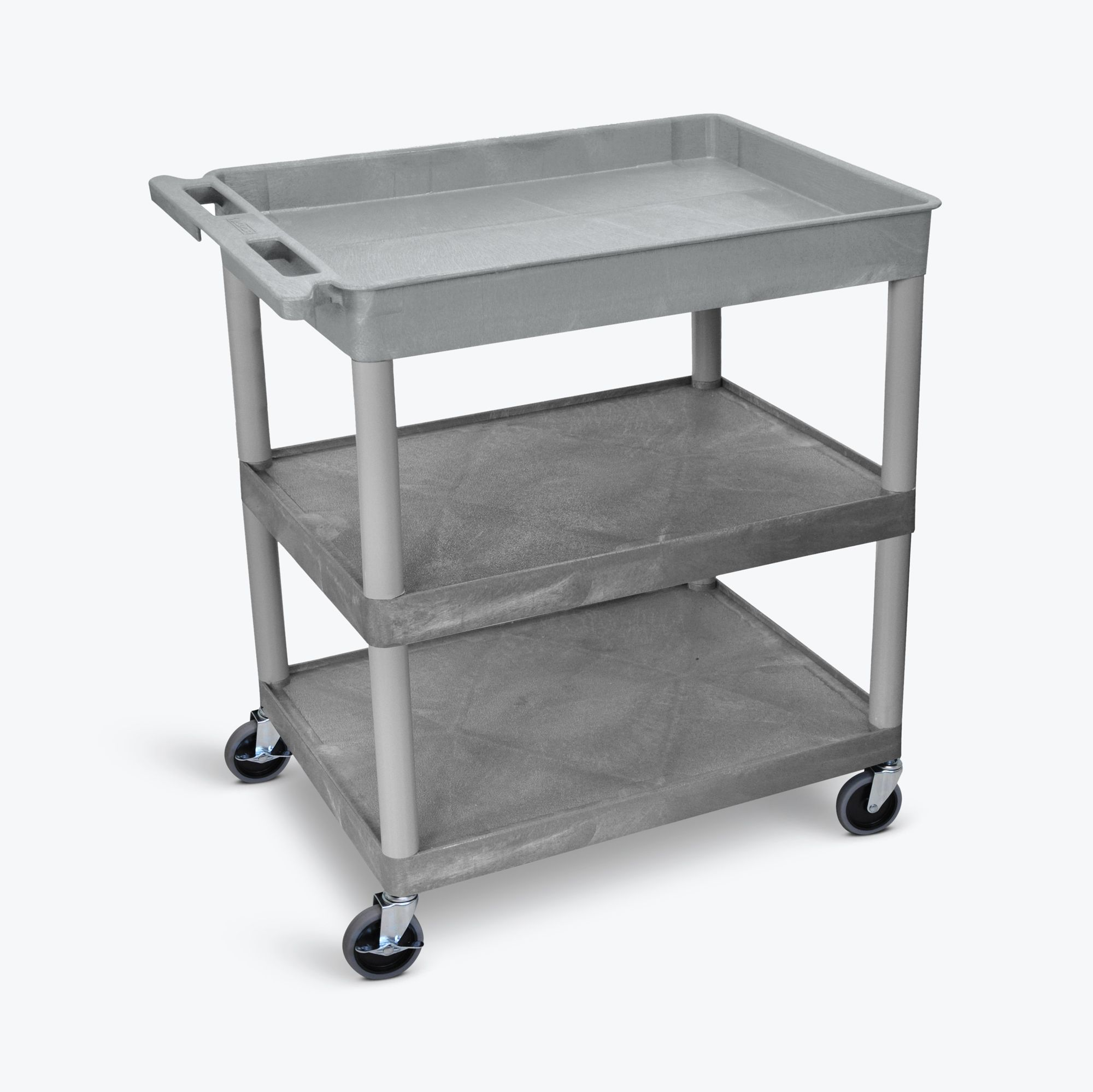 Luxor Large Tub Top and Flat Middle/Bottom Shelf Cart
