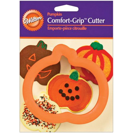 Halloween Comfort Grip Pumpkin Cutter, Ideal for brownies biscuits sandwiches sheet cakes cheese crispy treats fudge and much more By Wilton
