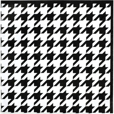 Houndstooth Lunch Napkins 16 Pack ()