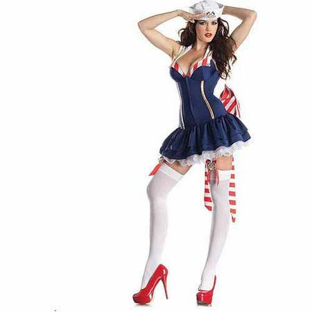 Pin Up Sailor Body Shaper Adult Halloween Costume](Sailor Pin Up)