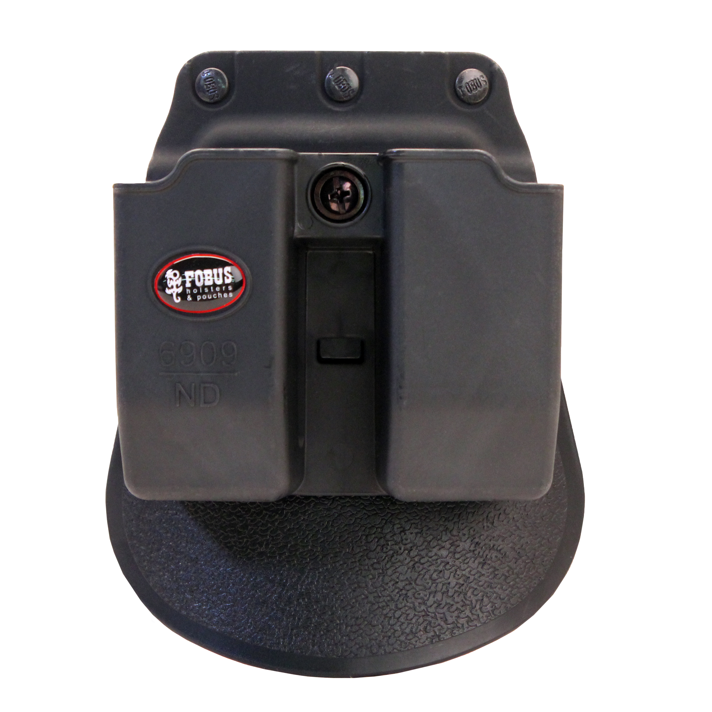 Fobus Roto Paddle and Belt Magazine Pouch 9mm & .40 Double-Stack Double Magazine Pouch (Except Glock), Black by Fobus
