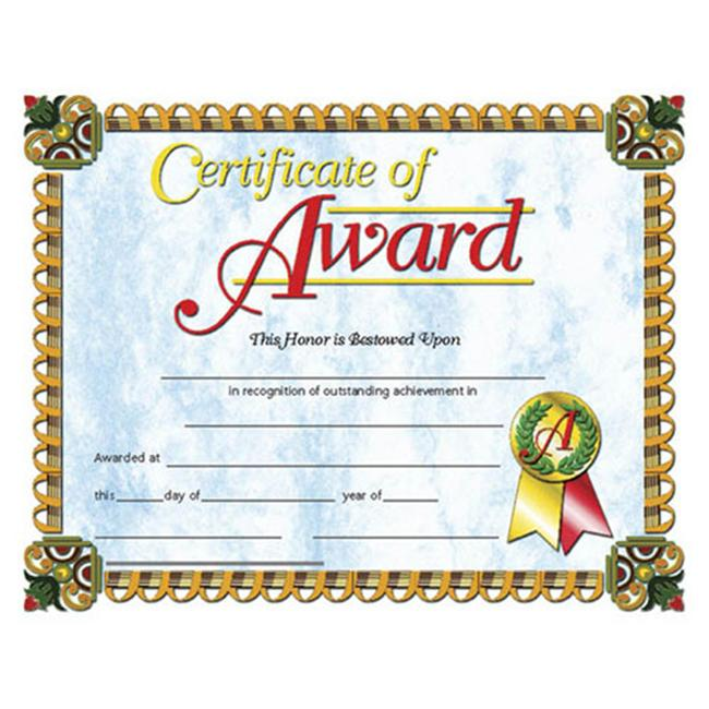 HAYES SCHOOL PUBLISHING H-VA632 CERTIFICATES OF AWARD-36/PK 8-1/2 X 11 INKJET/LASER