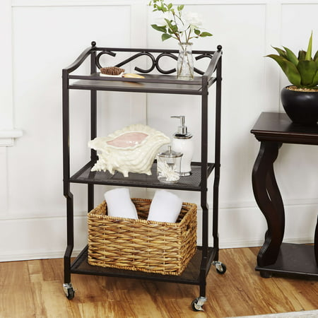 Chapter 3-Shelf Bathroom Storage Cart, Oil-Rubbed Bronze Finish