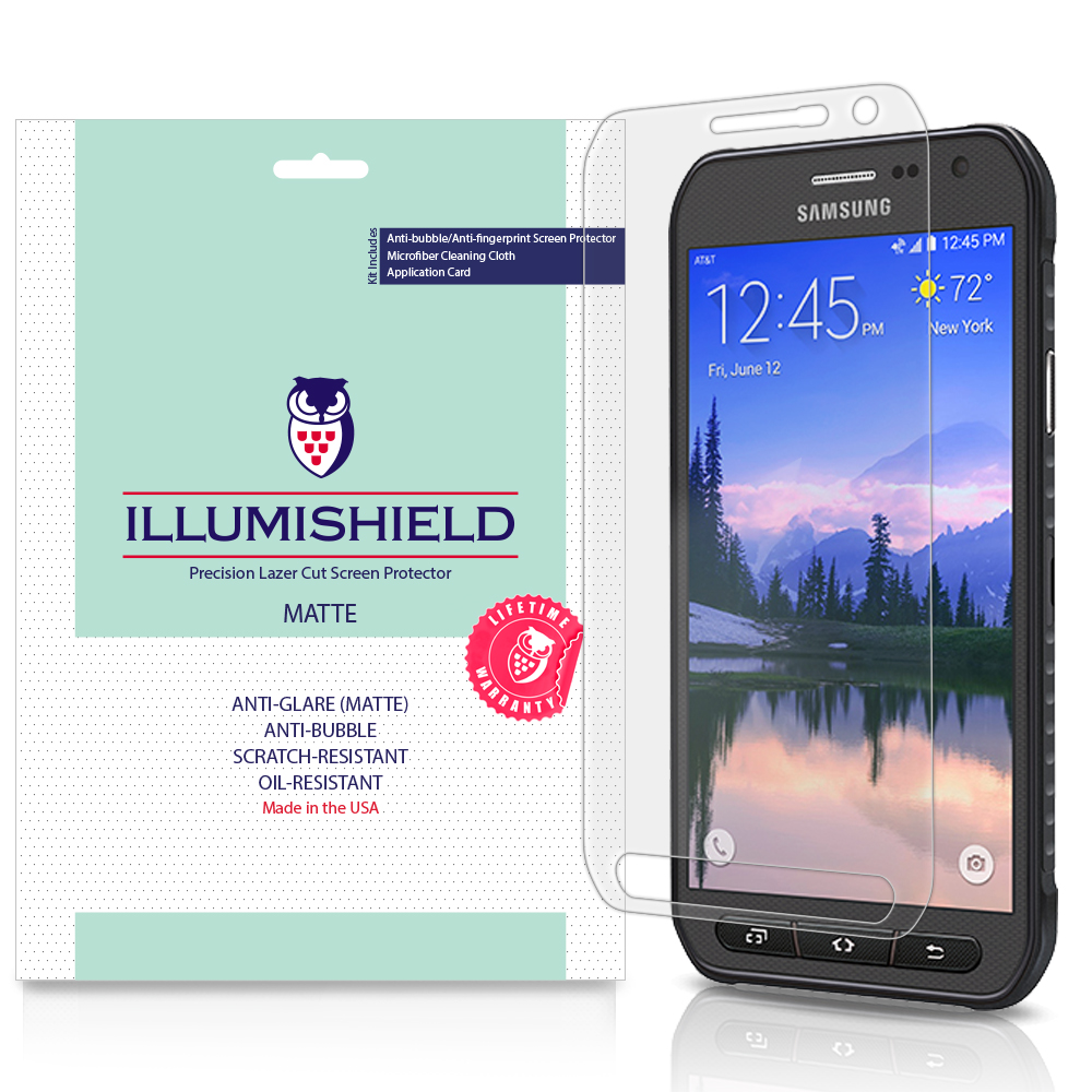 iLLumiShield Matte Screen Protector w Anti-Glare 3x for Samsung Galaxy S6 Active