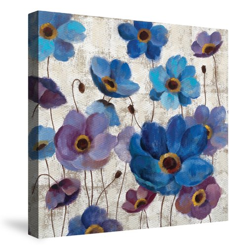 Laural Home Anemones by Silvia Vassileva Painting Print on Canvas
