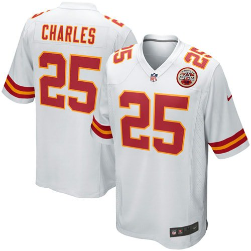 Jamaal Charles Kansas City Chiefs Nike Youth Game Jersey - White