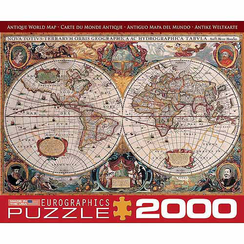 EuroGraphics Antique Map of the World 2000-Piece Puzzle by Generic