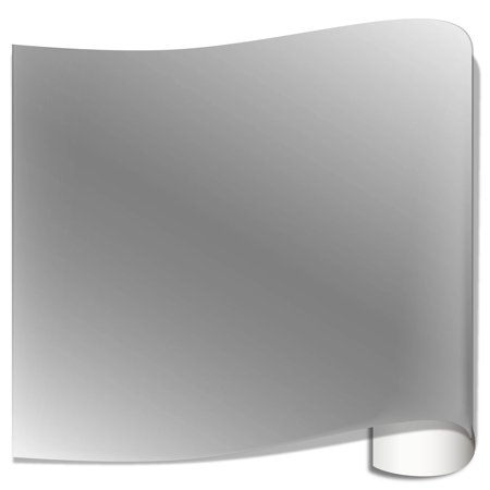 Basic Grey 12x12 Inch Paper - Oracal 651 Glossy Vinyl Sheets - Metallic Silver Grey