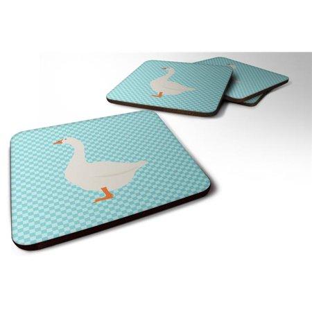Carolines Treasures BB8066FC Embden Goose Blue Check Foam Coaster, Set of 4 - image 1 de 1