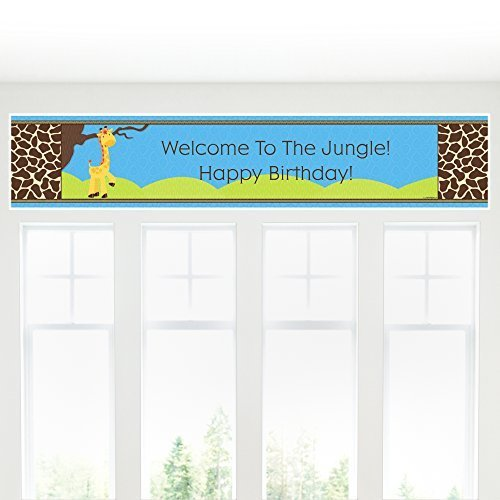 Giraffe Boy - Party Decorations - Birthday Party Banner