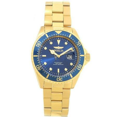 Invicta 22063 Men's Pro Diver Blue Dial Yellow Gold Steel Quartz Dive (Pro Diver Blue Dial)