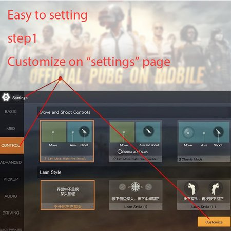 Sensitive Shoot and Aim Keys Shooter Controller Mobile Gaming Trigger for PUBG Games - image 1 of 6